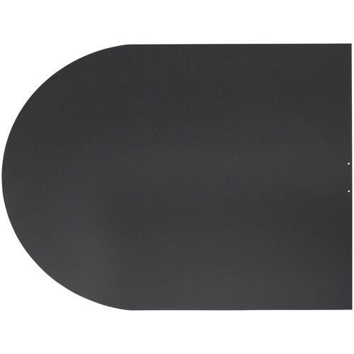 JUSTUS ORANIER Stahlbodenplatte für Kaminöfen »B3«, 100x120 cm, schwarz, zum Funkenschutz, schwarz