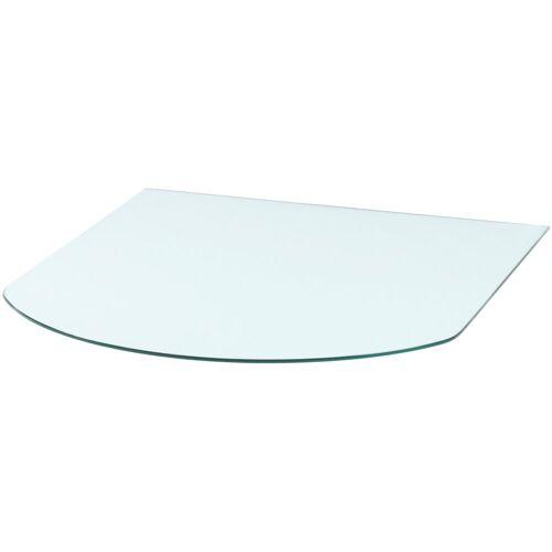 Glasbodenplatte »Halbrundbogen«, für Kaminöfen, 85 x 110 cm, Milchglas, weiß