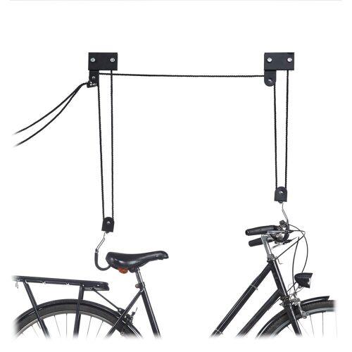 relaxdays Fahrradhalter »Fahrrad Deckenlift«
