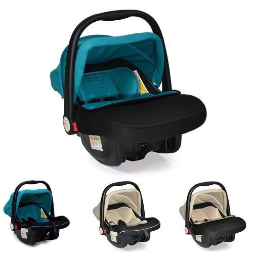 Moni Babyschale »Kindersitz Babyschale Luna Gruppe 0+«, 3 kg, (0 bis 13 kg) mit Sonnendach, türkis