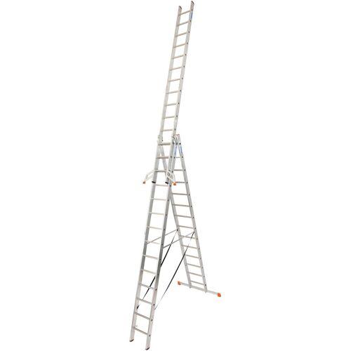 KRAUSE Vielzweckleiter »Tribilo«, mit Leiternspitzen, silberfarben