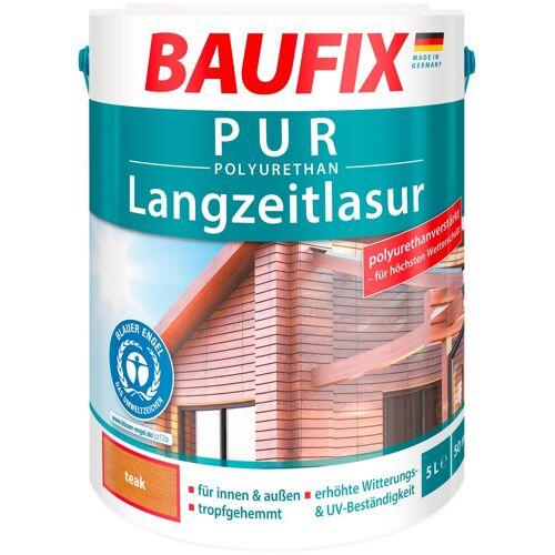 Baufix Holzschutz-Lasur »Teak«, PUR-Langzeitlasur, braun