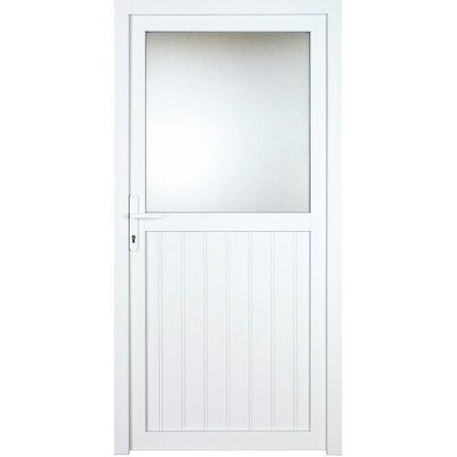 KM Zaun Nebeneingangstür »K606P«, BxH: 98x208 cm cm, weiß, links