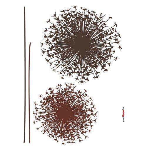 Komar Packung: Wandtattoo »Pusteblume«, 4-teilig, braun