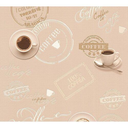 A.S. Création Schaumtapete »Il Decoro Kaffee«, aufgeschäumt, Motiv, bunt-beige