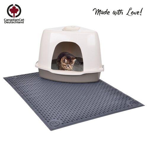 Canadian Cat Company Katzentoilette »All in one - anthrazit«, Katzentoilettenvorleger - sauberlauf Zone - Vorleger für die Katzentoilette