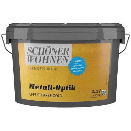 SCHÖNER WOHNEN-Kollektion Wandfarbe »Metall-Optik Effektfarbe gold«, glänzend, 2,5 l
