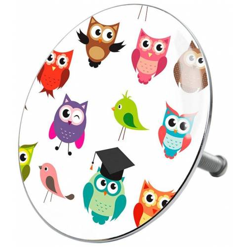 Sanilo Stöpsel »Owl«, für Badewannen und Duschen, Ø 7,2 cm, bunt