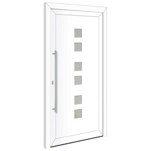 RORO Türen & Fenster Haustür »Otto 17«, BxH: 100x210 cm, weiß/weiß, Anschlag rechts, ohne Griff