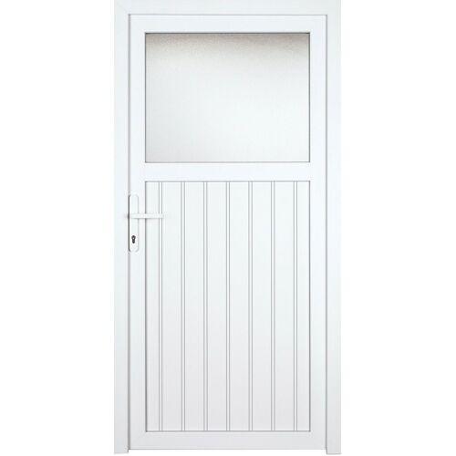 KM Zaun Nebeneingangstür »K605P«, BxH: 98x198 cm, weiß, links