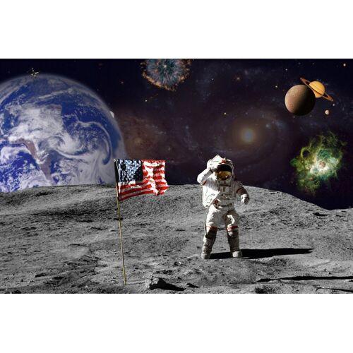 Papermoon Fototapete »Moon«, BlueBack, 7 Bahnen, 350 x 260 cm, bunt
