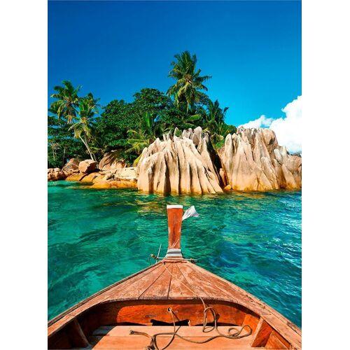 Idealdecor Fototapete »St.Pierre Insel Seychellen«, Vlies, 2 Bahnen, 183 x 254 cm, bunt