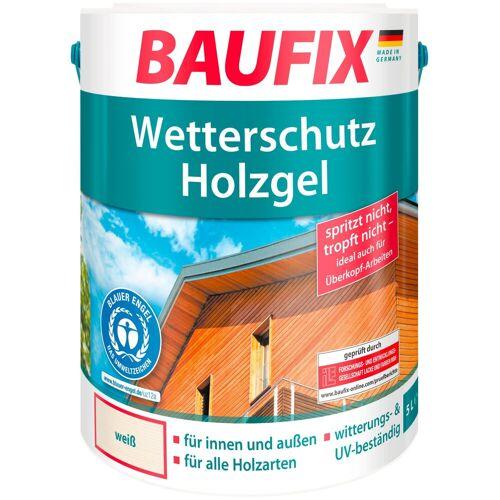 Baufix Holzschutz-Lasur »Weiß«, Wetterschutz-Holzgel, weiß