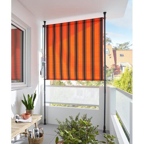 KONIFERA Senkrechtmarkise »Klemmmarkise« BxH: 150x225 cm, mit Teleskop-Funktion, orange-braun