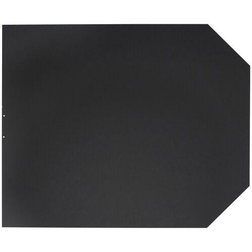 JUSTUS ORANIER Stahlbodenplatte für Kaminöfen »B2«, 100x120 cm, schwarz, zum Funkenschutz, schwarz