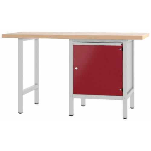 PADOR Werkbank »700.0.11 S 4«, grau/rot