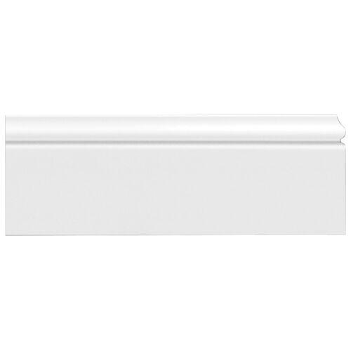Homestar Zierleiste »CF 12«, HD-Fussleiste, 15 x 120 mm, Länge 2 m, 2 Stk., Kunststoff, weiß