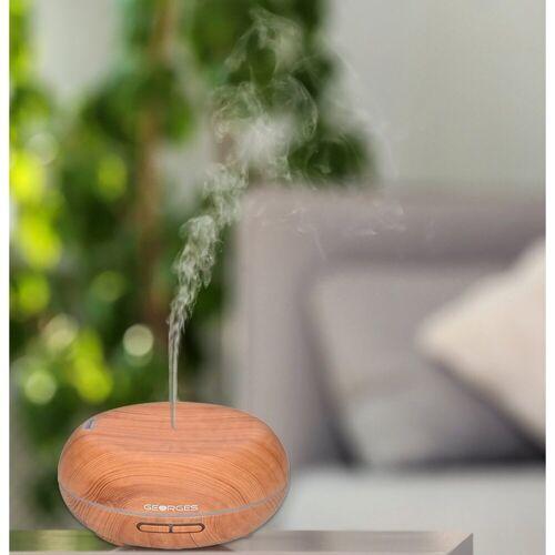 GEORGES Diffuser Ultraschall Aroma-Diffuser 300 ml Holzmaserung Light Wood