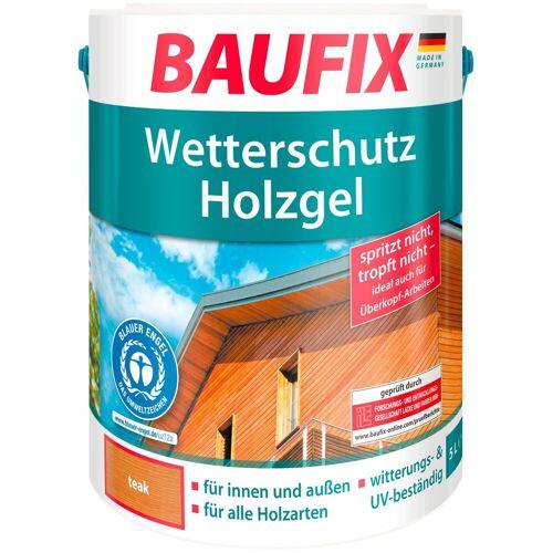 Baufix Holzschutz-Lasur »Teak«, Wetterschutz-Holzgel, braun