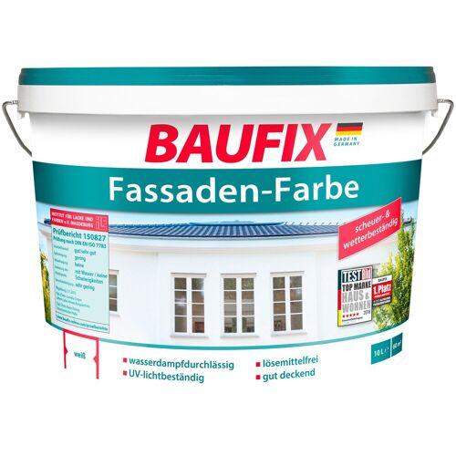 Baufix Fassadenfarbe, wetterbeständig, weiß, 10 L