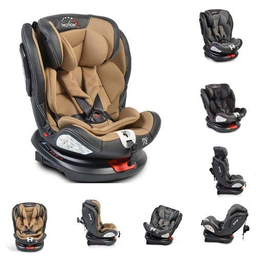 Moni Autokindersitz »Kindersitz Motion 0-36 kg Gruppe 0/1/2/3«, 8.1 kg, drehbar 165° Neigung Isofix SIPS, beige