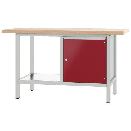 PADOR Werkbank »21 S 04«, grau/rot