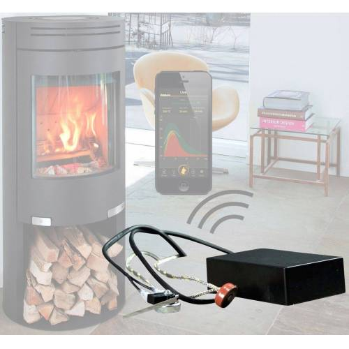 ADURO Sensor für Kaminofen »Smart Response«, Für alle Kaminöfen geeignet, schwarz
