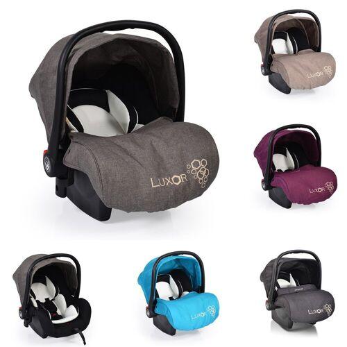 Moni Babyschale »Babyschale, Kindersitz Luxor, Gruppe 0+«, 2.9 kg, (0 - 13 kg), Sitzpolster, Fußabdeckung, grau