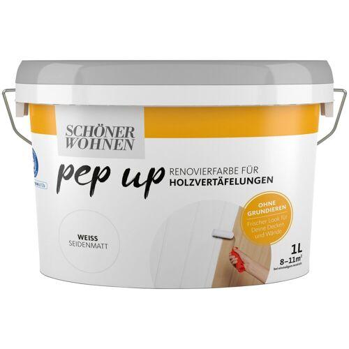 SCHÖNER WOHNEN-Kollektion Lack »pep up - weiß«, seidenmatt, für Holzvertäfelungen 1 l