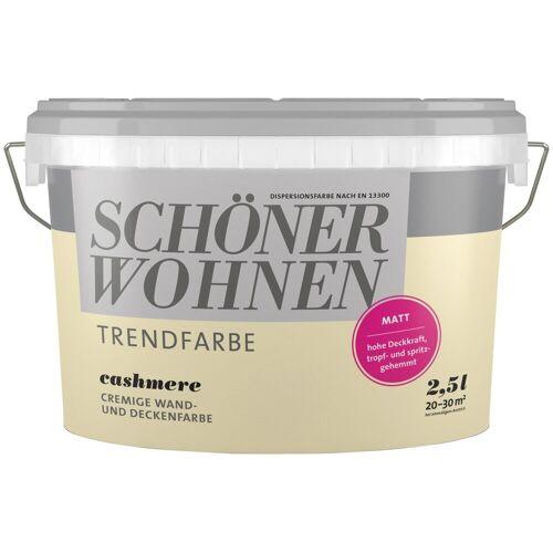 SCHÖNER WOHNEN-Kollektion SCHÖNER WOHNEN FARBE Wand- und Deckenfarbe »Trendfarbe Cashmere, matt«, 2,5 l, Cashmere