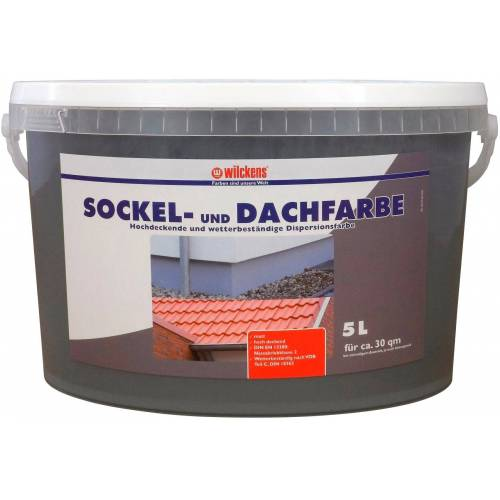 Wilckens Farben Fassadenfarbe »Sockel-& Dachfarbe«, grau