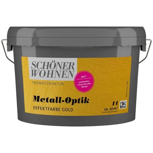 SCHÖNER WOHNEN-Kollektion Wandfarbe »Metall-Optik Effektfarbe gold«, 1 l