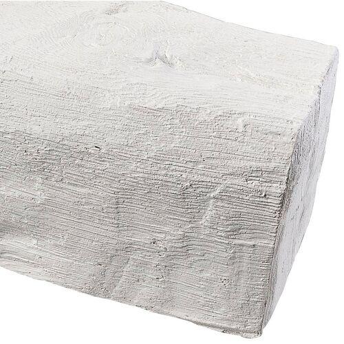 Homestar Dekorpaneele Länge 2 m, Holzimitat, weiß, weiß