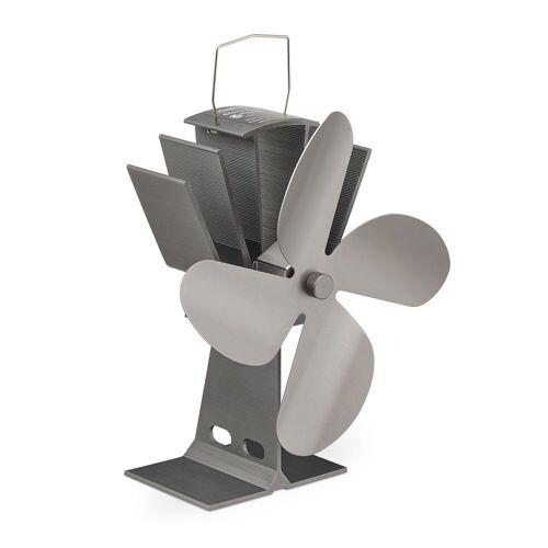 relaxdays Kaminventilator Ofenventilator ohne Strom, Silber