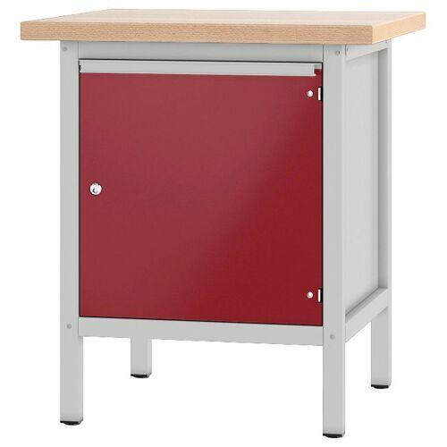 PADOR Werkbank »11 S 4«, grau/rot