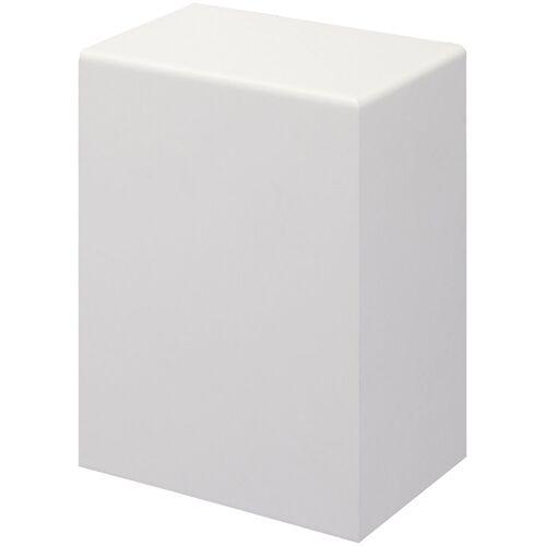 Bodenmeister Set: Endkappe »Rohrabdeckleiste Weiß«, 2er-Pack (1x rechts, 1x links), Höhe: 10 cm, weiß