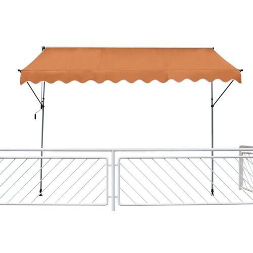 Leco Klemmmarkise Fallarmmarkise 200x120 cm Balkon Markise Spannmarkise Sonnenschutz orange