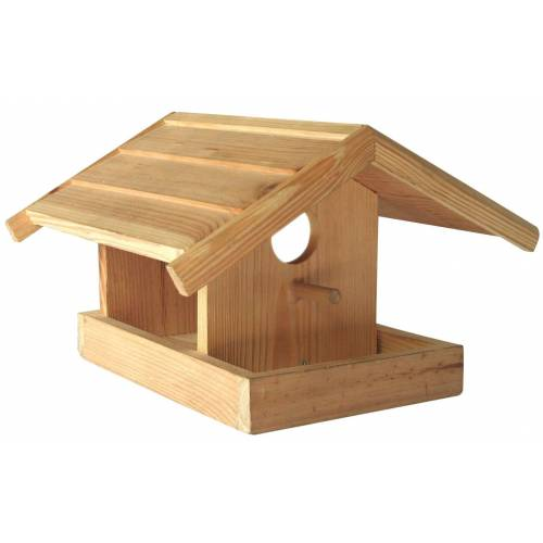 dynamic24 Vogelhaus, Holz Vogelhaus natur zum Bemalen Futterhaus Vogelhäuschen Vogelfutterstelle