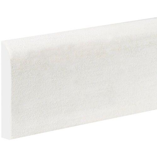 Bodenmeister : Sockelleiste »Biegeleiste Oberkante abgerudet weiß«, flexibel, biegbar, Höhe: 6,9 cm, weiß