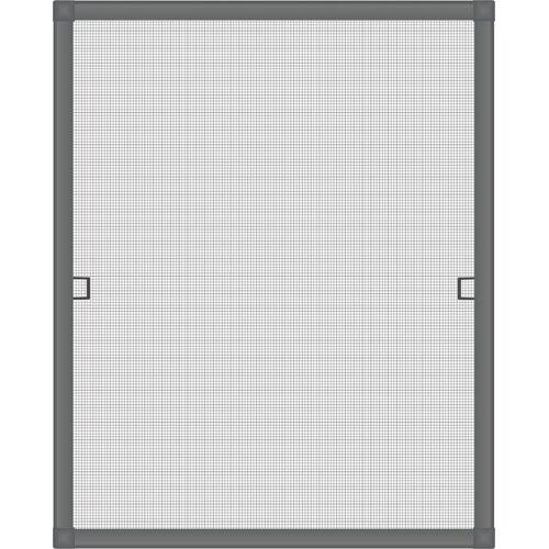 Nematek Insektenschutzplissee »® Fliegengitter Fenster LIGHT, ohne Bohren - Insektenschutz Gitter mit Alurahmen - Mückengitter Fenstergitter Fliegengitter«, , Anthrazit