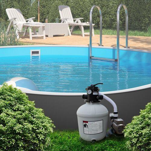 Oskar Pool-Filterpumpe »Sandfilteranlage Sandfilter Zeitschaltuhr 24h Timer 13,2m³ Poolfilter Pool Pumpe«