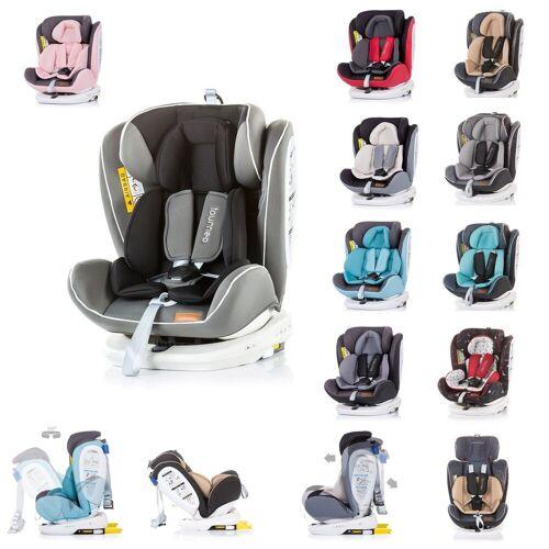Chipolino Autokindersitz »Kindersitz Tourneo Gruppe 0+/1/2/3«, 9.5 kg, (0 - 36 kg), Isofix, 360° drehbar, grau