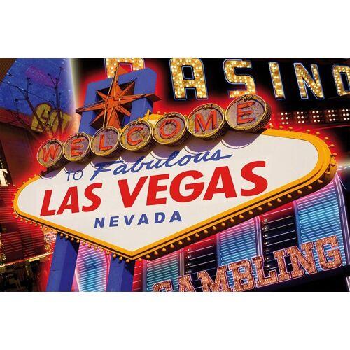 Papermoon Fototapete »Las Vegas«, Vlies, 5 Bahnen, 250 x 180 cm, bunt