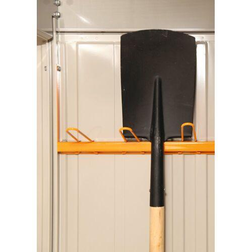 Wolff FINNHAUS Gerätehalter für Stahlgerätehaus »Yokohama«, »Sapporo 2219« und »Nagoya«, orange