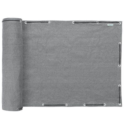 Hoberg Balkonsichtschutz Sicht- und Windschutz 90 x 500 cm Grau