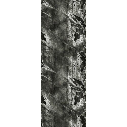 queence Vinyltapete »Vab«, 90 x 250 cm, selbstklebend, grau