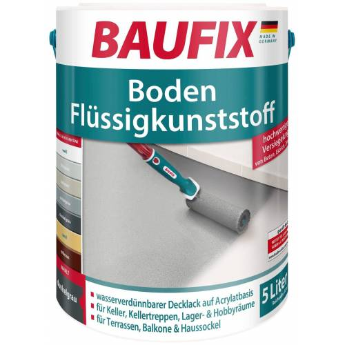 Baufix Acryl-Flüssigkunststoff, 5 Liter, grau