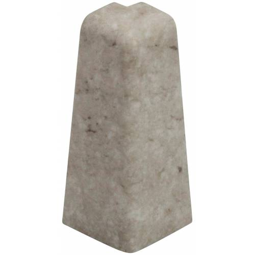 EGGER Außenecke »Stein weiß«, Außeneck-Element für 6cm Sockelleiste, 2 Stk., weiß/stein