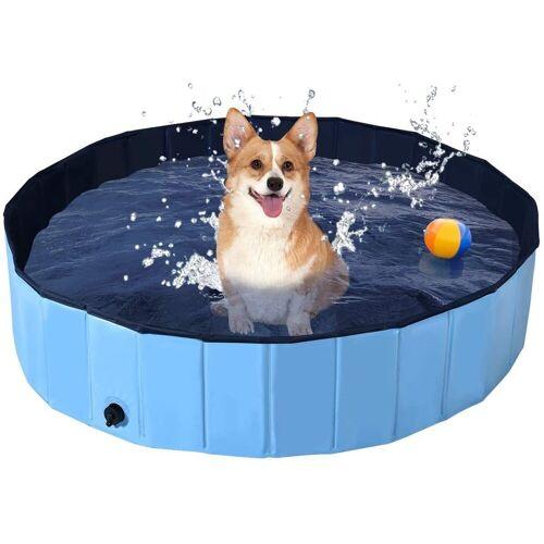 COSTWAY Badewanne »Haustierpool Swimmingpool Hundebadewanne Pet Bath Pool«, Blau