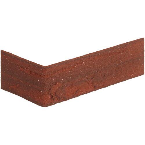 ELASTOLITH Verblender »Colorado Eckverblender«, BxL: 11,5x7,1 cm, (Set, 24-tlg) rot, für Außen- und Innenbereich, 2 Lfm